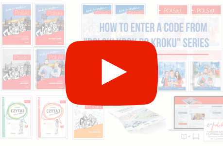 "How to enter a code from ""POLSKI krok po kroku"" series?"